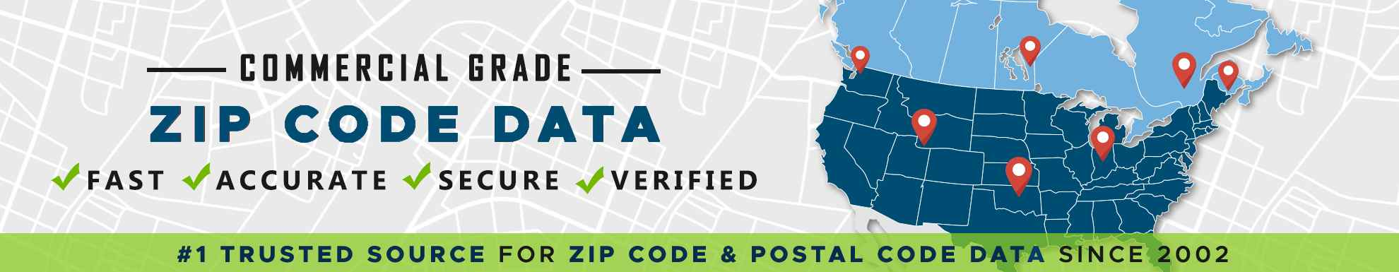 Zip Code Data and Postal Code Data
