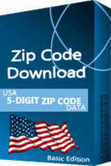 USA - 5-digit ZIP Code Database, Basic Edition