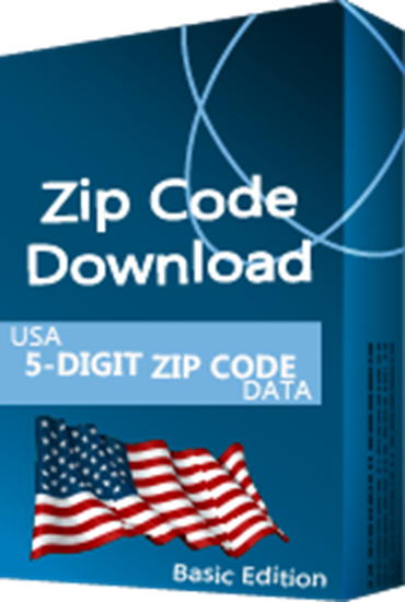 USA - 5-digit ZIP Code Database, Basic Edition