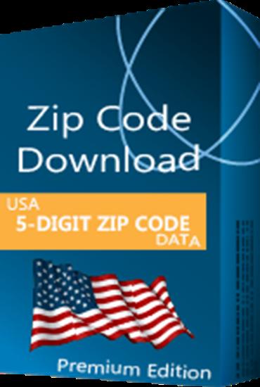 USA - 5-digit ZIP Code Database, Premium Edition