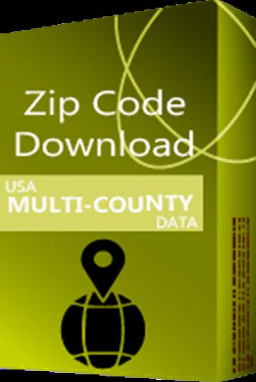 USA - 5-digit Multi-County ZIP Code Database