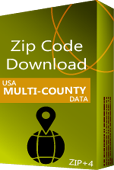 USA - ZIP+4 Multi-County Database (Redistribution License)