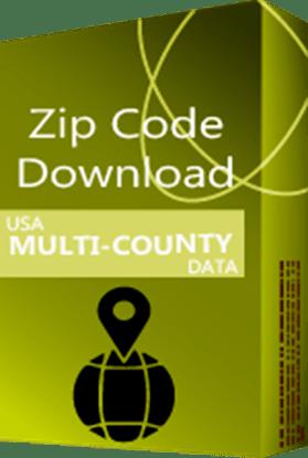 USA - 5-digit ZIP Code Multi-County Database (Redistribution License)