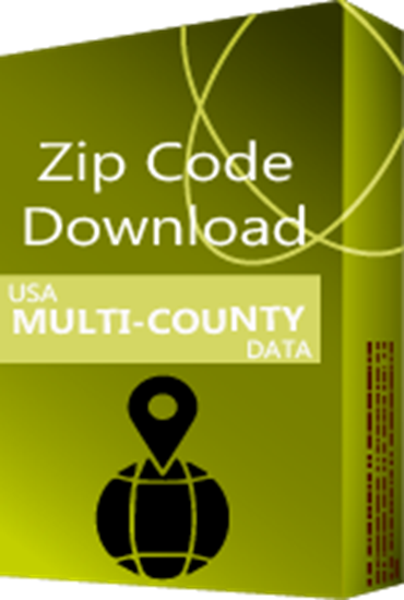USA - 5-digit ZIP Code Multi-County Database (Redistribution License)