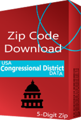 Congressional Districts 5 digit ZIP Code Database - for the 116th US Congress