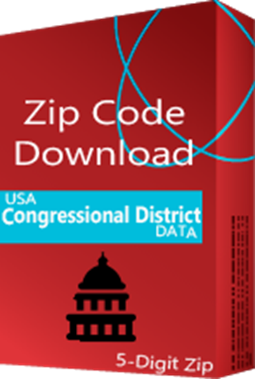 Congressional Districts 5 digit ZIP Code Database - for the 116th US Congress (Redistribution)