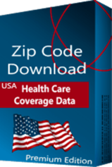 Health Care Coverage by Zip Code Database, Premium Edition