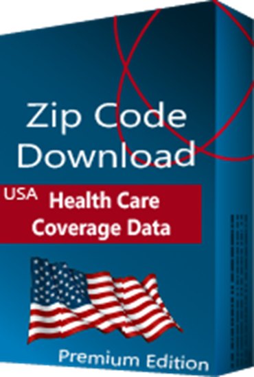 Health Care Coverage by Zip Code Database, Premium Edition (Redistribution License)