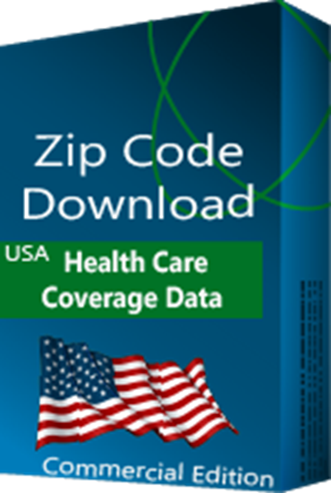 Health Care Coverage by Zip Code Database, Commercial Edition (Redistribution License)