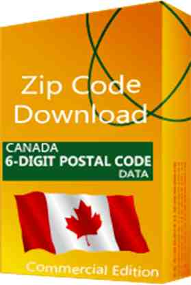 Canada - 6-digit Postal Code Data, Commercial Edition