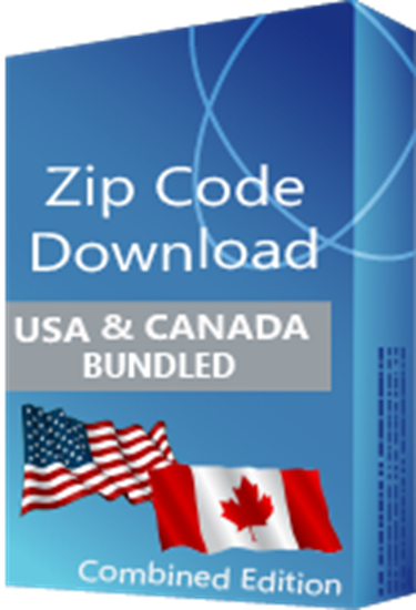 USA 5-digit & Canadian 6-digit Postal Code Database, Combined Edition (Redistribution License)