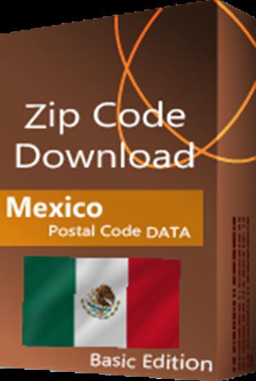 Mexico - 5-digit Postal Code Database, Premium Edition