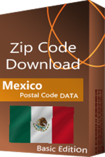 Mexico - 5-digit Postal Code Database, Premium Edition (Redistribution License)