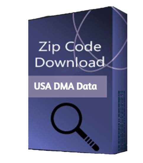 USA Zip Code DMA Market Area Database