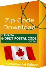 Canada 6-digit Postal Code Database, Commercial