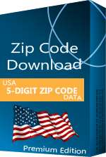 USA - 5-digit ZIP Code Database, Premium Edition