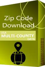 USA - 5-digit Multi-County ZIP Code Database