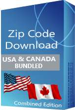 USA 5-digit & Canadian 6-digit Postal Code Database, Combined Edition